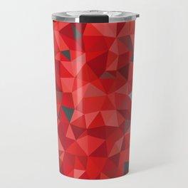 Red and gray triangular pattern - triangles mosaic Travel Mug
