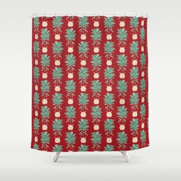 Hipster Holiday tree Shower Curtain
