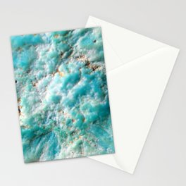 Turquoise Texture Stationery Cards
