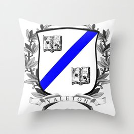 Valeton University Crest Throw Pillow
