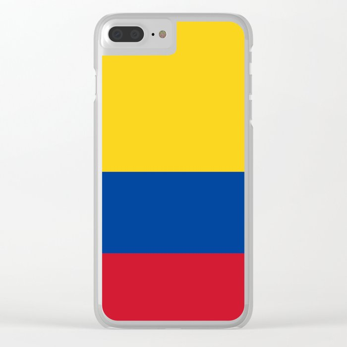 Colombia Flag Clear iPhone Case
