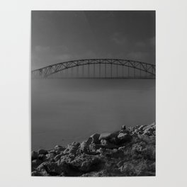 Julian Dubuque Bridge and the Mississippi River Poster