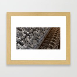 Blad city Framed Art Print