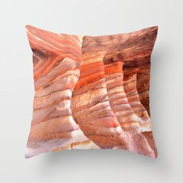 Colorful sandstone in Petra, Jordan (Picture 5) Throw Pillow
