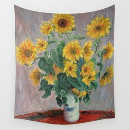 Claude Monet Bouquet Of Sunflowers 1881 Wall Tapestry