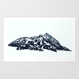Mt. Crested Butte Art Print