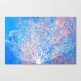 Abstract sea fan coral Canvas Print