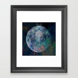 Lunar Goddess Mandala Framed Art Print