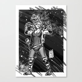 365 Space Wrestlers: Fight King Canvas Print