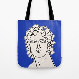Alexander the Great statue Tote Bag