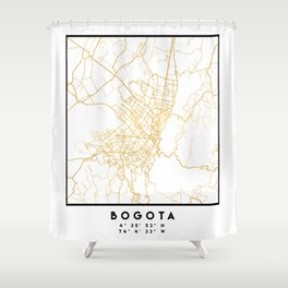 BOGOTA COLOMBIA CITY STREET MAP ART Shower Curtain