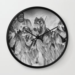 Dog Power Wall Clock