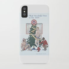 Team Cap Nice Pinup Holiday Card iPhone X Slim Case