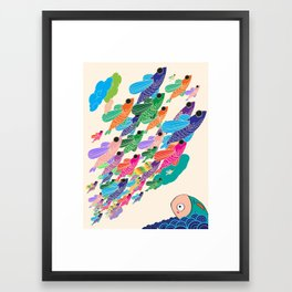 The fish that wished to fly Framed Art Print