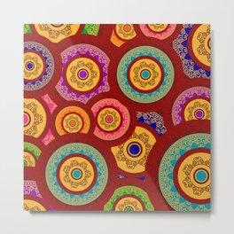 Indian pattern Metal Print
