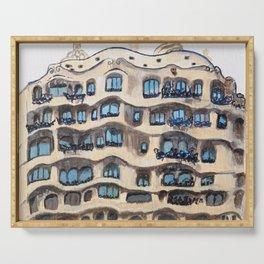 Barcelona, La Pedrera, building by Gaudi Serving Tray