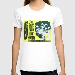 The Beast with five fingers, vintage horror movie poster T-shirt