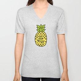 Eat Your Fruit Unisex V-Neck