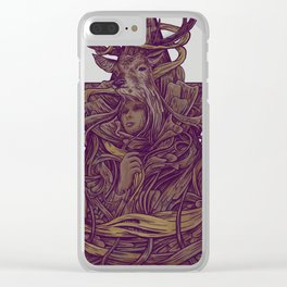 Beautiful Deer Clear iPhone Case