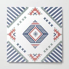 American Native Pattern No. 162 Metal Print