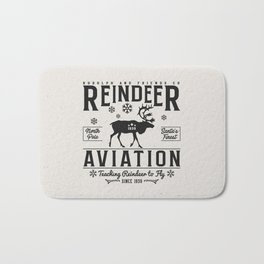 Reindeer Aviation - Christmas Bath Mat