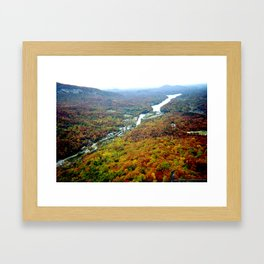 Overlooking Lake Lure Framed Art Print