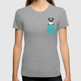 Schnauzer dog head cute gifts for schnauzers lovers dog breed art T-shirt