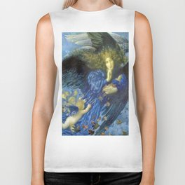 Night with her Train of Stars by Edward Robert Hughes Biker Tank