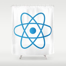 Abstract Isolated Atom Shower Curtain