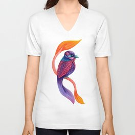 Looking Toward a Feathered Future Unisex V-Neck