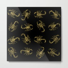 Golden Scorpions Metal Print
