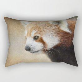 Red Panda Watching - Wildlife Rectangular Pillow