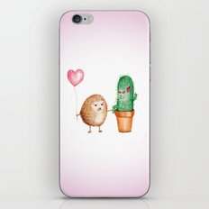 Hedgehog and Cactus Love iPhone & iPod Skin