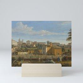 Gaspar van Wittel, called Vanvitelli ROME, A VIEW OF THE CHURCH OF SANTI MARCELLINO E PIETRO Mini Art Print