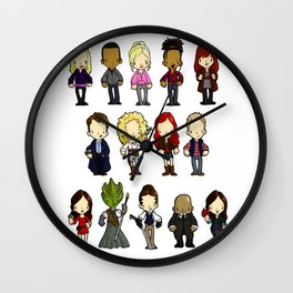 Doctors Companions and Friends V.2 Wall Clock