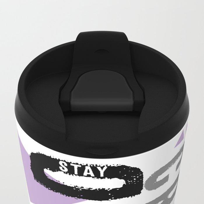 Text Art STAY WEIRD Metal Travel Mug