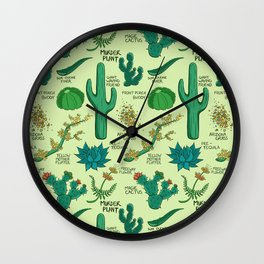 Native Desert Plants Wall Clock