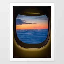 Skies Out Plane Window Art Print