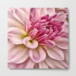 Pink Floral Macro Metal Print