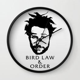 Charlie's Bird Law & Order Wall Clock
