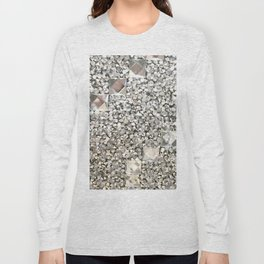 Diamond Chips Pattern Long Sleeve T-shirt