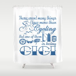 Cycling Gigi Shower Curtain