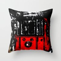 subway Throw Pillows featuring subway by gizem sevinç