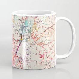 Albany map New York painting square Coffee Mug