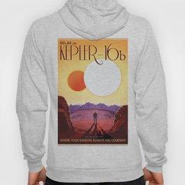 NASA Retro Space Travel Poster #8 Kepler 16b Hoody