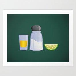 Tequila Art Print