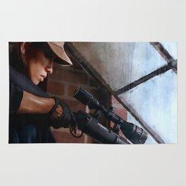 Sniper Rosita (the walking dead) Rug