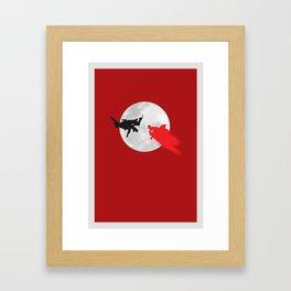 BAT VS SUP Framed Art Print