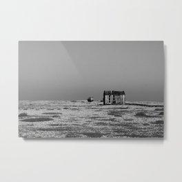 Shack by the sea Metal Print