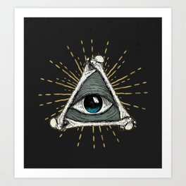 All seeing eye of God Art Print